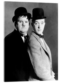 Acrylic print  Oliver Hardy & Stan Laurel