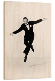 Wood print  Fred Astaire