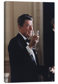 Canvas  Ronald Reagan with wineglass