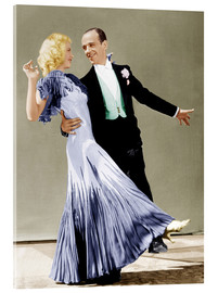 Acrylic print  THE GAY DIVORCEE, Ginger Rogers, Fred Astaire