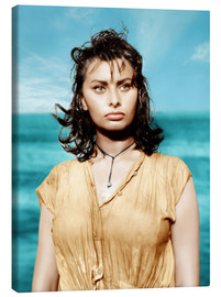 Canvas print  BOY ON A DOLPHIN, Sophia Loren