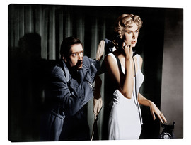Canvas print  Dial M for Murder, from left: Anthony Dawson, Grace Kelly in 1954