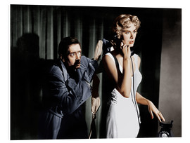 Foam board print  Dial M for Murder, from left: Anthony Dawson, Grace Kelly in 1954
