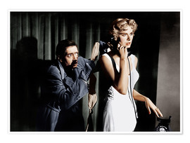 Dial M for Murder, from left: Anthony Dawson, Grace Kelly in 1954