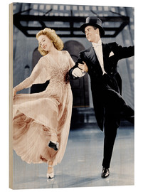 Wood print  THE JOLSON STORY - Evelyn Keyes and Larry Parks