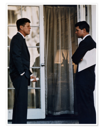 Premium poster President Kennedy and his brother Robert Kennedy