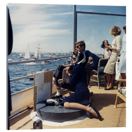 Acrylic glass  President and Jacqueline Kennedy at Sailing