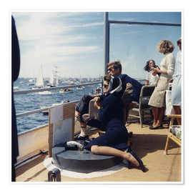 Poster  President and Jacqueline Kennedy at Sailing