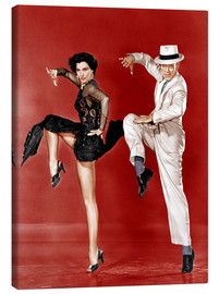 Canvas print  THE BAND WAGON, from left: Cyd Charisse, Fred Astaire, 1953