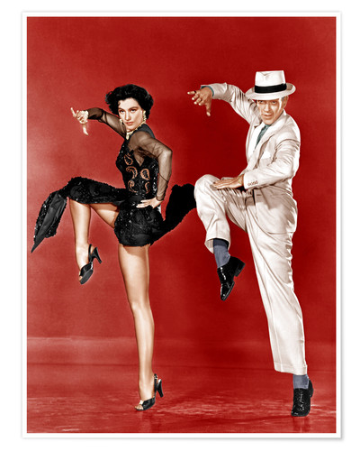 Premium poster THE BAND WAGON, from left: Cyd Charisse, Fred Astaire, 1953
