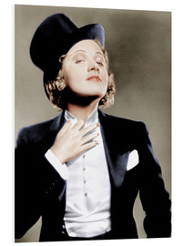 Forex  Marlene Dietrich with a suit and cylinder