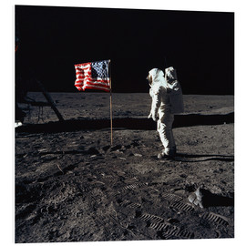 Foam board print  Apollo 11 astronaut Buzz Aldrin