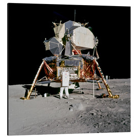 Aluminium print  Apollo 11 Astronaut and Edwin Aldrin on the Moon