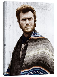 Canvas print  Clint Eastwood with a poncho