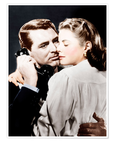 Premium poster NOTORIOUS, from left: Cary Grant, Ingrid Bergman, 1946