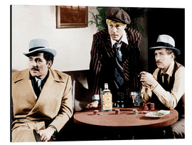 Aluminium print  THE STING, Robert Shaw, Robert Redford, Paul Newman