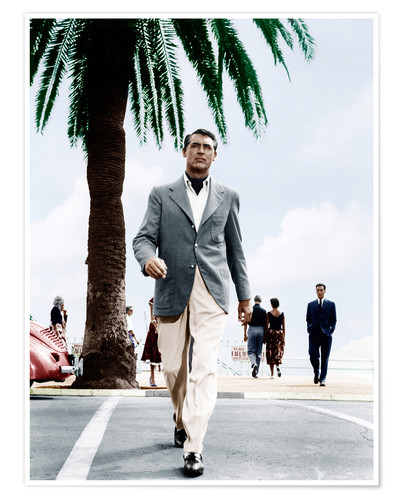 Premium poster Cary Grant crosses a road