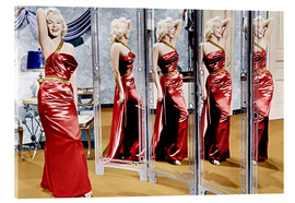 Acrylic glass  Marilyn Monroe in front of mirrors