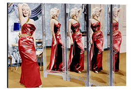 Aluminium print  Marilyn Monroe in front of mirrors