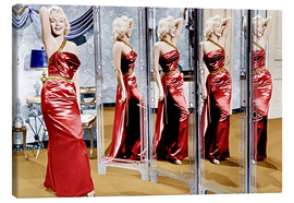 Canvas print  Marilyn Monroe in front of mirrors