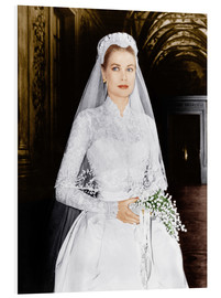 Foam board print  The Wedding in Monaco, Grace Kelly