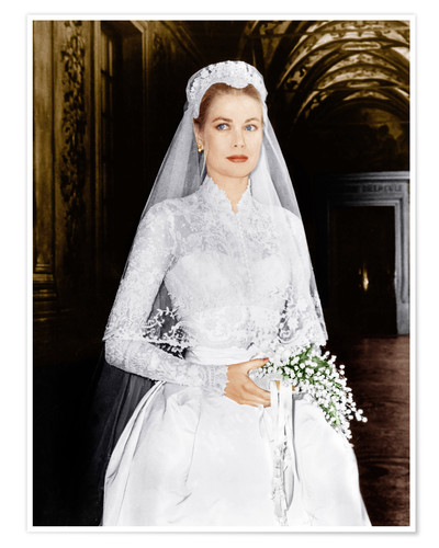 Premium poster The Wedding in Monaco, Grace Kelly