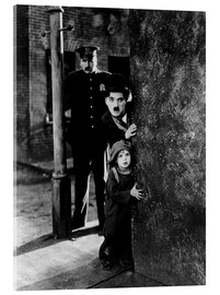 Acrylic print  Tom Wilson, Charles Chaplin and Jackie Coogan in The Kid