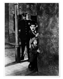 Premium poster Tom Wilson, Charles Chaplin and Jackie Coogan in The Kid