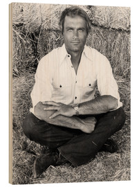 Wood print  Terence Hill
