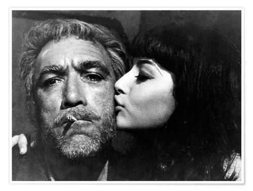 Premium poster Zorba the Greek, Anthony Quinn with Eleni Anousaki