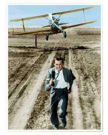 Premium poster Cary Grant in North by Northwest