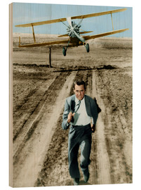 Wood print  Cary Grant in North by Northwest