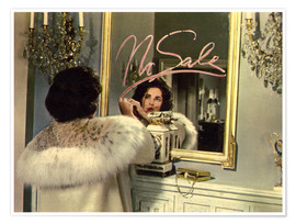 Premium poster Elizabeth Taylor in front of a mirror