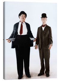 Canvas print  Laurel & Hardy with empty pockets