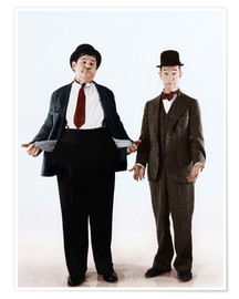 Premium poster  Laurel & Hardy with empty pockets