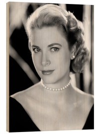 Wood print  Grace Kelly, 1953