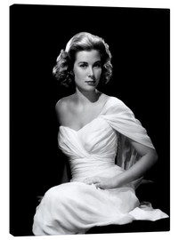 Canvas print  Grace Kelly in a white dress