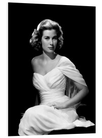 Foam board print  Grace Kelly in a white dress