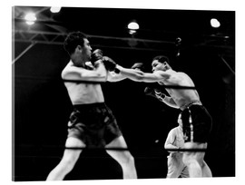 Acrylic print  Max Schmeling fights against Joe Louis