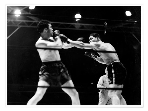 Premium poster Max Schmeling fights against Joe Louis