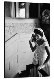 Aluminium print  Jackie Kennedy at her wedding