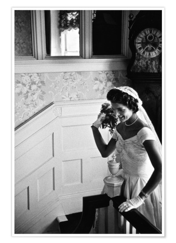 Premium poster Jackie Kennedy at her wedding