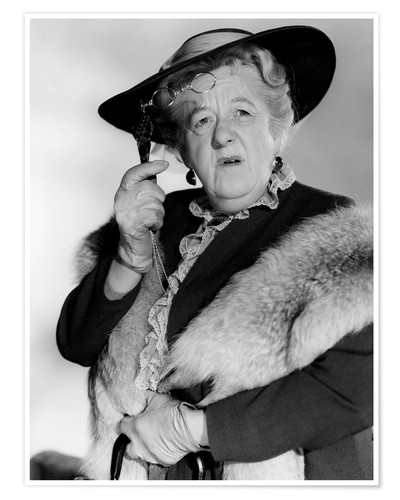 Premium poster Margaret Rutherford