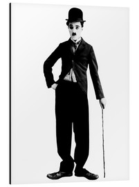 Alu-Dibond  Charlie Chaplin with walking stick