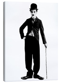 Canvas  Charlie Chaplin with walking stick