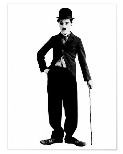 Premium poster Charlie Chaplin with walking stick