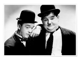 Premium poster Stan Laurel and Oliver Hardy