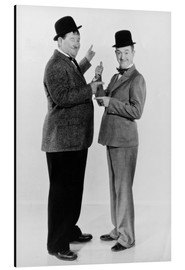 Aluminium print  Oliver Hardy and Stan Laurel