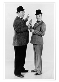 Premium poster  Oliver Hardy and Stan Laurel