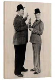 Wood print  Oliver Hardy and Stan Laurel